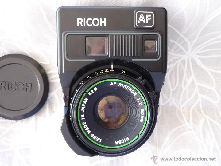 OBJETIVO RICOH 50MM 1;2 AUTOFOCO .ANALOGICO CON ESTUCHE DE CUERO (Cámaras Fotográficas Antiguas - Objetivos y Complementos )