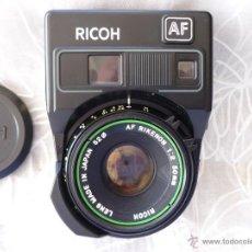 Cámara de fotos: OBJETIVO RICOH 50MM 1;2 AUTOFOCO .ANALOGICO CON ESTUCHE DE CUERO. Lote 42021567