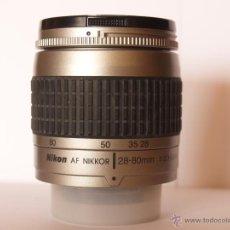 Cámara de fotos: NIKON AF NIKKOR 28-80MM F 1:3.3-5.6 G / EXCELENTE ESTADO. Lote 43532218