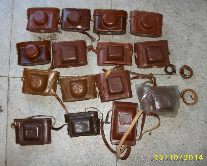FUNDAS DE CUERO PARA CAMARA ANTIGUA (Cámaras Fotográficas Antiguas - Objetivos y Complementos )