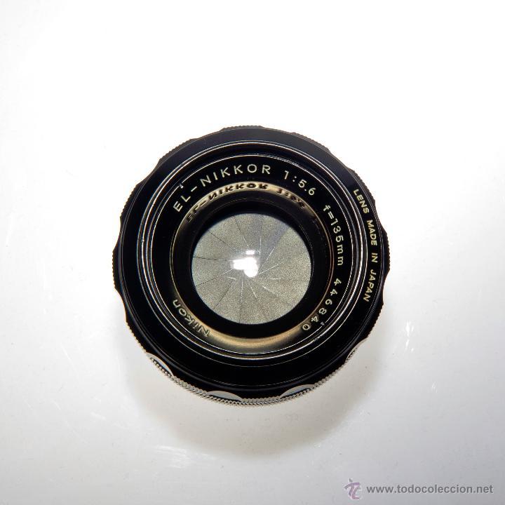 OBJETIVO AMPLIADORA (NEGATIVO 4X5), EL-NIKKOR 1:5,6 F=135MM (Cámaras Fotográficas Antiguas - Objetivos y Complementos )