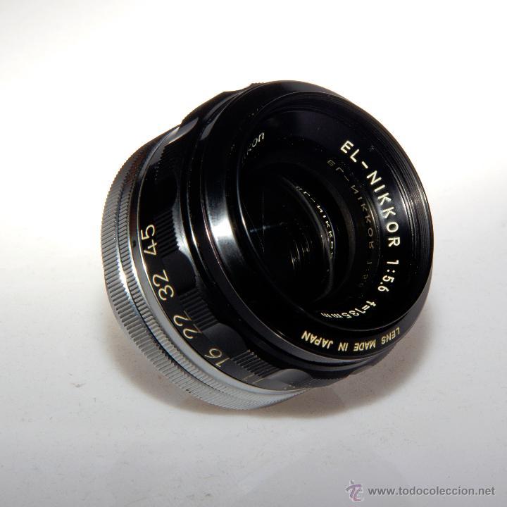 Cámara de fotos: Objetivo ampliadora (negativo 4x5), EL-NIKKOR 1:5,6 f=135mm - Foto 2 - 46552529