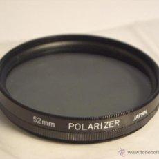 Cámara de fotos: FILTRO POLARIZADOR 52MM POLARIZER JAPAN. Lote 46958319