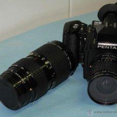 Cámara de fotos: CAMARA PENTAX 645 CON ANGULAR SMC PENTAX- A 45 MM./ 2,8 Y ZOOM SMC PENTAX - A 80 -160 MM/ 4,5. Lote 47527410