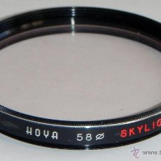 Cámara de fotos: FILTRO HOYA SKYLIGHT - 58 MM DIAMETRO. Lote 47654100