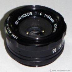 Cámara de fotos: OBJETIVO NIKON 1:4 F=50 - 39 MM DE DIAMETRO. Lote 47731913