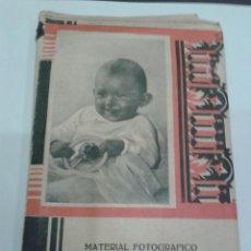 Cámara de fotos: FOLLETO DE MATERIAL FOTOGRAFICO MANUEL QUINTAS ESPECIALISTA EN TRABAJOS DE LABORATORIO. Lote 47787092