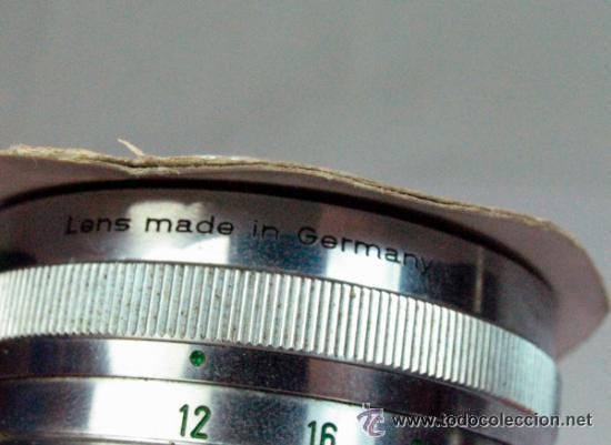 Cámara de fotos: ANTIGUO OBJETIVO SCHNEIDER – KREUZNACH 8932715 SYMMAR 1:5,6/180 MADE IN GERMANY - Foto 3 - 47938672
