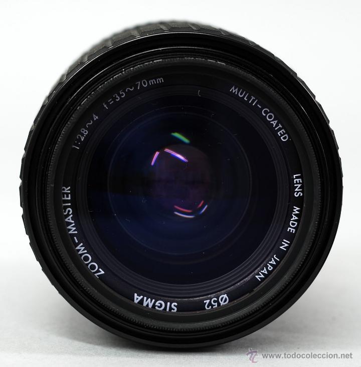 Cámara de fotos: Objetivo Sigma Zoom Master 1:28 4 70 mm 1:45 f 35 con funda - Foto 2 - 48381133