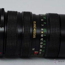 Cámara de fotos: OBJETIVO VIVITAR AUTO ZOOM F 70 150 MM 1:3.8 CLOSE FOCUSING CON FUNDA. Lote 48381542