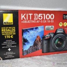 Cámara de fotos: CAJA ORIGINAL DE LA CÁMARA NIKON D5100. Lote 180425286