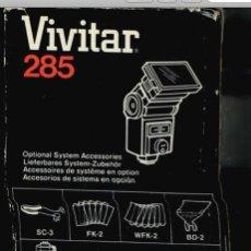 Cámara de fotos: FLASH VIVITAR 285 CON SU CAJA ORIGINAL + MANUAL DE INSTRUCCIONES === VER FOTOS.. Lote 51677191