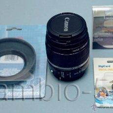 Cámara de fotos: 1 OBJETIVO CANON EFS 18-55MM IS PARA REFLEX DIGITAL APS-C + PARASOL + FILTRO UV58MM+SALVA TAPA. Lote 53774761