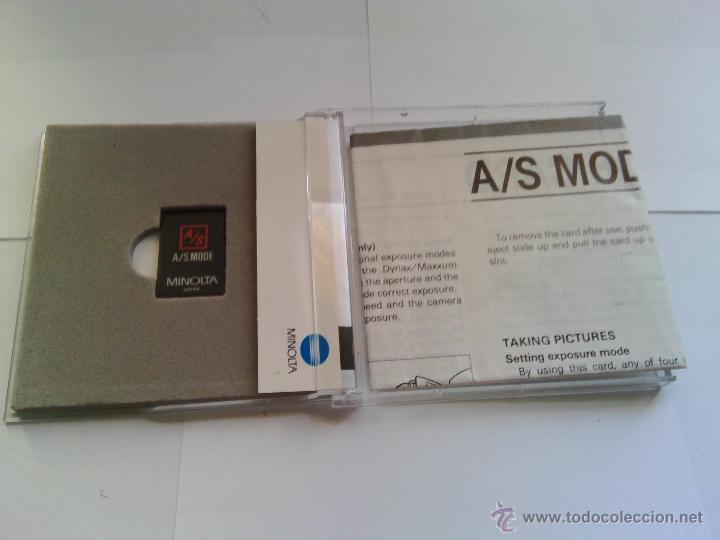 Cámara de fotos: TARJETA MINOLTA A/S MODE CARD - Foto 3 - 54063652