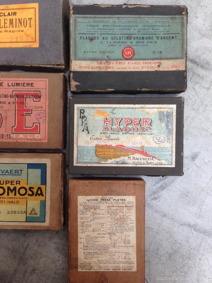 Cámara de fotos: LOTE DE 6 CAJAS ANTIGUAS DE PLACAS DE GELATINO BROMURO DE PLATA - Foto 4 - 55157877