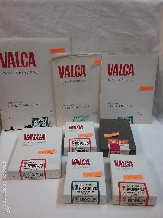 LOTE PAPEL FOTOGRÁFICO MARCA VALCA (Cámaras Fotográficas Antiguas - Objetivos y Complementos )