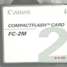 Cámara de fotos: TARJETA DE MEMORIA - CANON COMPACT FLASH 2MB- FC 2M - FC2M ¡¡¡ DIFICIL ¡¡¡ 2MB-COMPACTFLASH. Lote 56122503