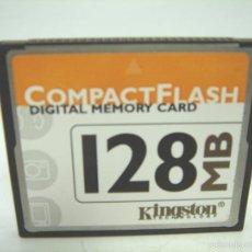Cámara de fotos: TARJETA DE MEMORIA - KINGSTON COMPACT FLASH FC 128MB - FC2M ¡¡¡ DIFICIL ¡¡¡ 128 MB M. Lote 56686545