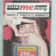 Cámara de fotos: TARJETA DE MEMORIA -ESTREMEMORY COMPACT FLASH 256MB - ¡¡¡ NUEVA Y DIFICIL ¡¡¡ 256 MB COMPACTFLASH. Lote 56826416