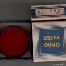 Cámara de fotos: 12-OMAG FILTER - FILTRO DE 36 MM ROJO MODELO Nº 305 DE FABRICACION SUIZA SIN CAJA.. Lote 58289869