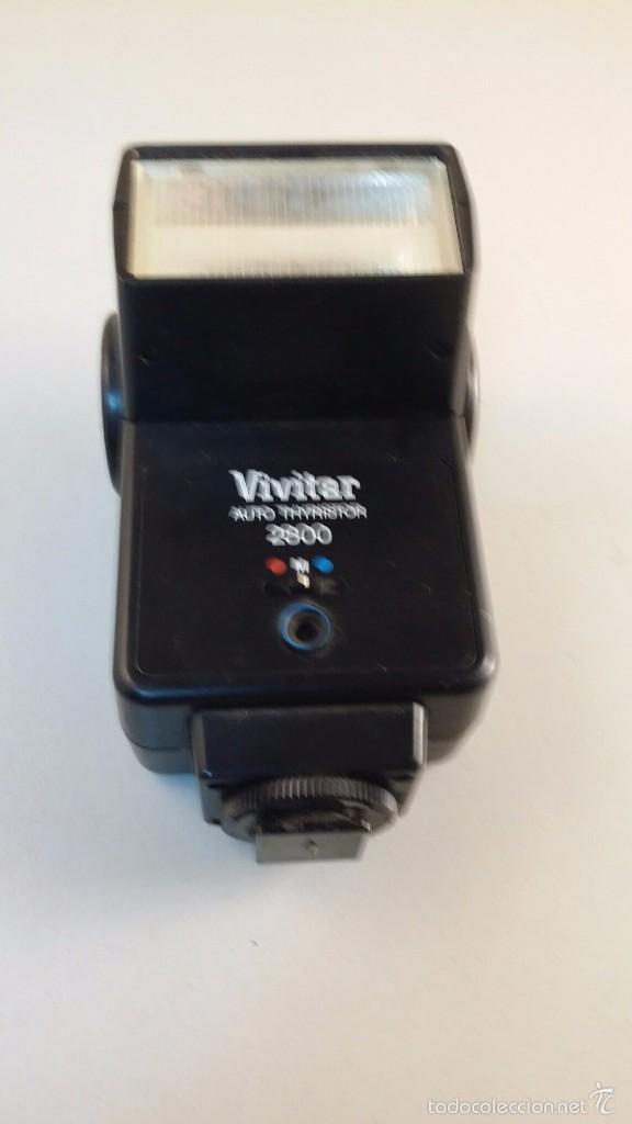 FLASH VIVITAR 2800 AUTO THYRISTOR (Cámaras Fotográficas Antiguas - Objetivos y Complementos )