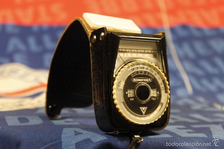 FOTÓMETRO LENINGRAD 4 + FUNDA DE CUERO (Cámaras Fotográficas Antiguas - Objetivos y Complementos )