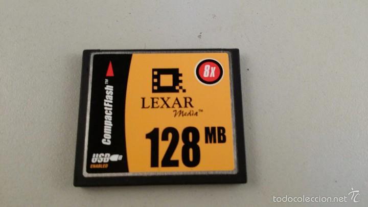 TARJETA LEXAR COMPACT FLASH DE 128 MB (Cámaras Fotográficas Antiguas - Objetivos y Complementos )
