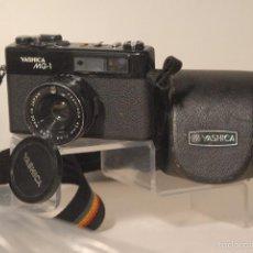Cámara de fotos: CAMARA YASHICA M.G.1 FUNDA ORIGINAL FUNCIONA. Lote 59853304