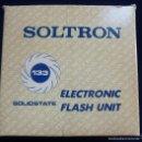 Cámara de fotos: SOLTRON. 133. ELECTRONIC FLASH UNIT. SOLIDSTATE. Lote 60582231