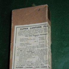 Cámara de fotos: CAJA DE PLACAS ALPHA LANTERN PLATES - ILFORD. Lote 67404041