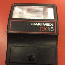 Cámara de fotos: FLASH HANIMEX CX115 PARA CAMARA FOTOGRAFICA. Lote 70102625