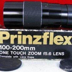 Cámara de fotos: LENTE PRINZFLEX ZOOM COMPLETA WITH LENS CAPS MUY BUEN ESTADO Y LIMPIA. Lote 81541191