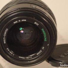 Cámara de fotos: OBJETIVO SIGMA A,F 35-70 1.3.5-4.5 ZOOM PARA MINOLTA. Lote 77185805