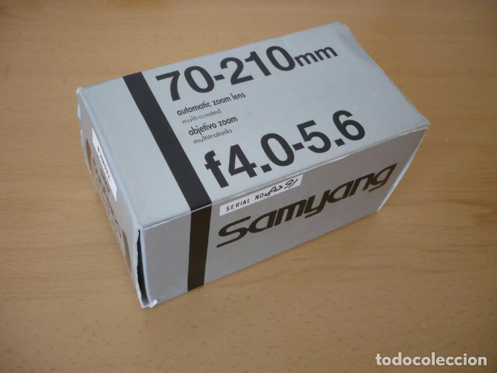 Objetivo Samyang Zoom 70-210mm 4.0-5.6 montura Yashica Contax Como Nuevo segunda mano
