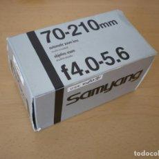 Cámara de fotos: OBJETIVO SAMYANG ZOOM 70-210MM 4.0-5.6 MONTURA YASHICA CONTAX COMO NUEVO. Lote 80100961