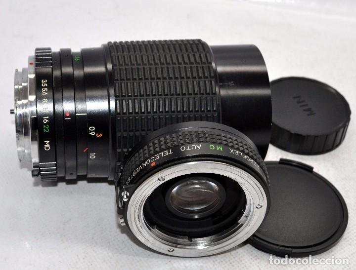 Cámara de fotos: OBJETIVO REFLEX..EXCELENTE 35/135mm.f:3.5/4.5.MAGINON+TELECONVERTER 2X..MINOLTA SR..MUY BUEN ESTADO - Foto 2 - 83495988