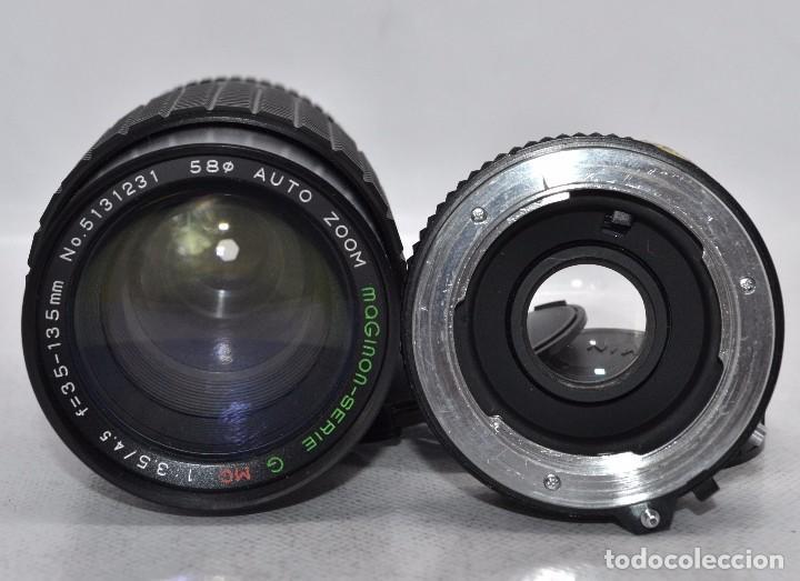 Cámara de fotos: OBJETIVO REFLEX..EXCELENTE 35/135mm.f:3.5/4.5.MAGINON+TELECONVERTER 2X..MINOLTA SR..MUY BUEN ESTADO - Foto 5 - 83495988
