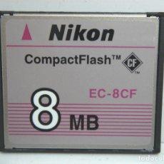 Cámara de fotos: TARJETA DE MEMORIA - NIKON COMPACT FLASH 8 MB - EC-8CF - EC8CF ¡¡¡ DIFICIL ¡¡¡ 8MB COMPACTFLASH. Lote 85710248