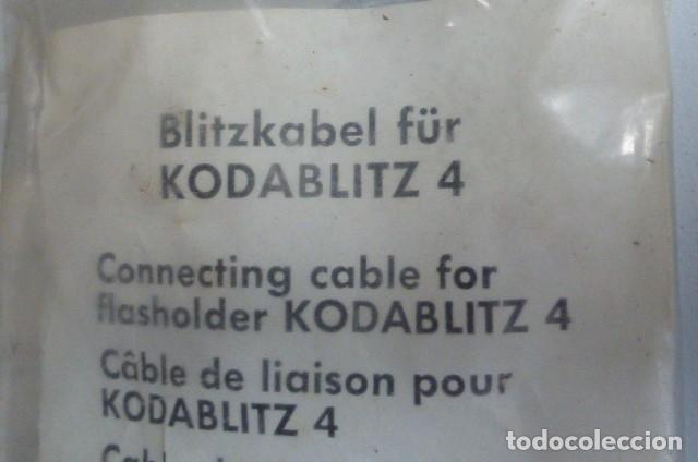 Cámara de fotos: Cable original para flash Kodak,Kodablitz 4..en bolsa original cerrado..años 70.. - Foto 2 - 87990848