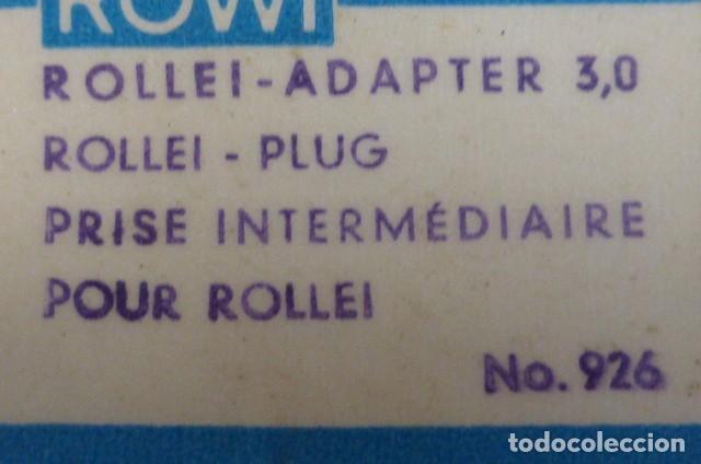 Cámara de fotos: Toma de contacto intermedia para Rollei...años 70. - Foto 2 - 87991296