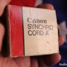 Cámara de fotos: CABLE CANON SYNCHROCORD A. Lote 89738844