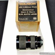 Cámara de fotos: OBJETIVO PARA CAMARA REFLEX SOLIGOR 35/140 3,5 MD. Lote 91445725