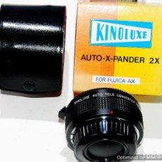 Cámara de fotos: CONVERSOR PARA OBJETIVO KINOLUXE 2X FUJICA AX CON FUNDA. Lote 91445970