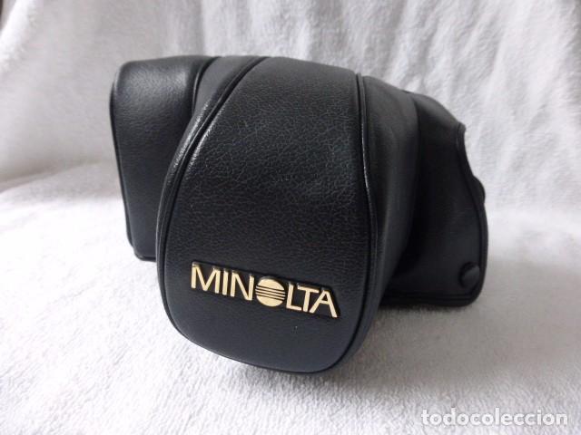 ESTUCHE ORIGINAL MINOLTA, PIEL,,JAPON MODELO CF 700 (Cámaras Fotográficas Antiguas - Objetivos y Complementos )