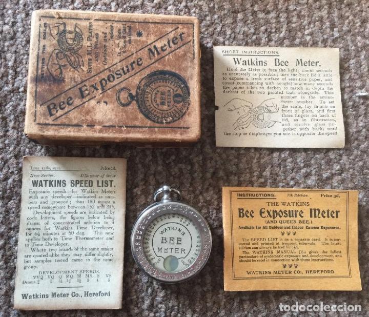 ANTIGUO EXPOSIMETRO WATKINS BEE METER INGLATERRA AÑO 1911 CON SUS INTRUCCIONES Y CAJA (Cámaras Fotográficas Antiguas - Objetivos y Complementos )