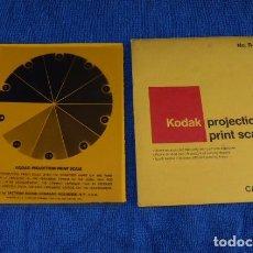 Cámara de fotos: ESCALA DE GRISES DE KODAK, PARA POSITIVADO EN BLANCO Y NEGRO... Lote 97264807