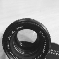 Cámara de fotos: TAKUMAR SMC 50MM 1:1.4 MONTURA M 42. Lote 97188492