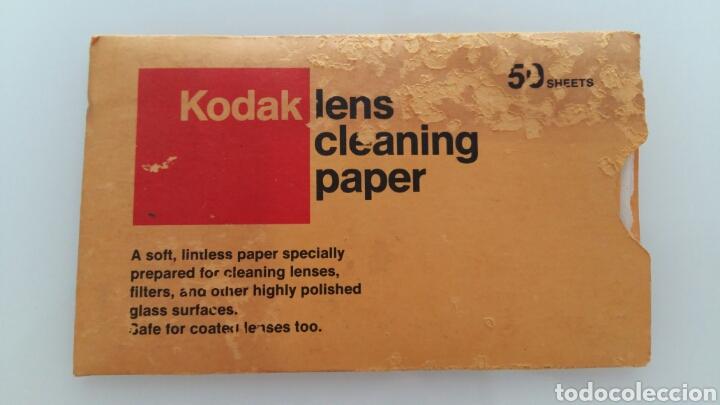 TOALLITAS DE LIMPIEZA KODAK. LENS CLEANING PAPER (Cámaras Fotográficas Antiguas - Objetivos y Complementos )