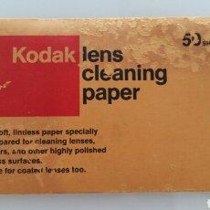 Cámara de fotos: TOALLITAS DE LIMPIEZA KODAK. LENS CLEANING PAPER . Lote 98696724