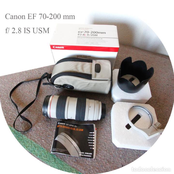 OBJETIVO CANON EF 70-200 MM / 1:2,8 L USM ULTRASONIC - COMO NUEVO IMPECABLE ESTADO (Cámaras Fotográficas Antiguas - Objetivos y Complementos )